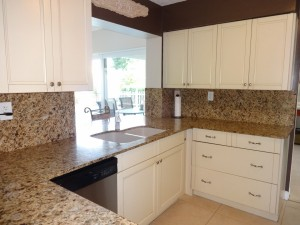 With a Full Granite Backsplash