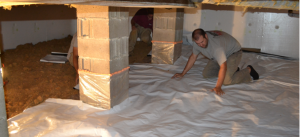 Creating a healthy crawlspace for your home.
