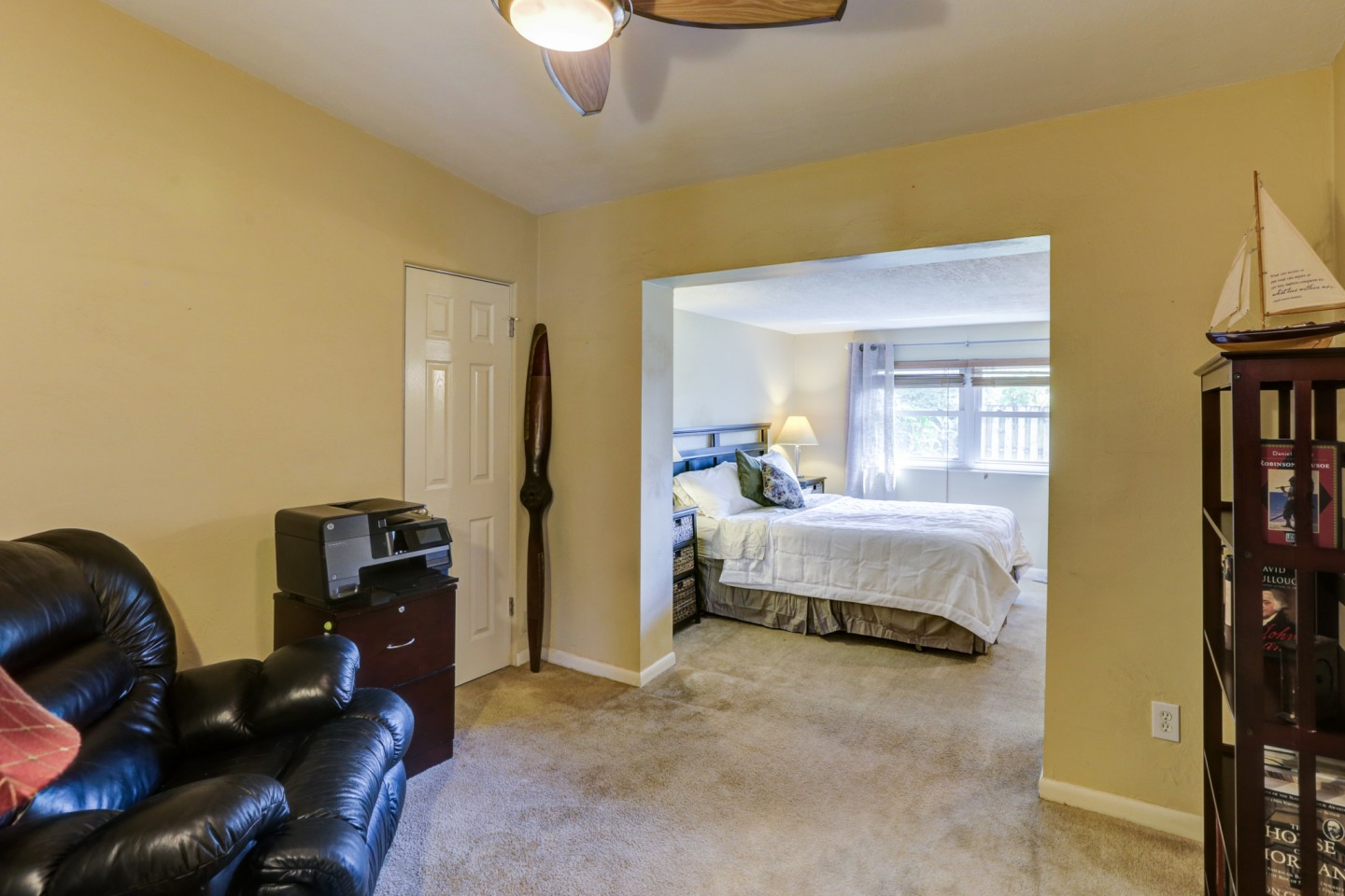 master suite with bonus den