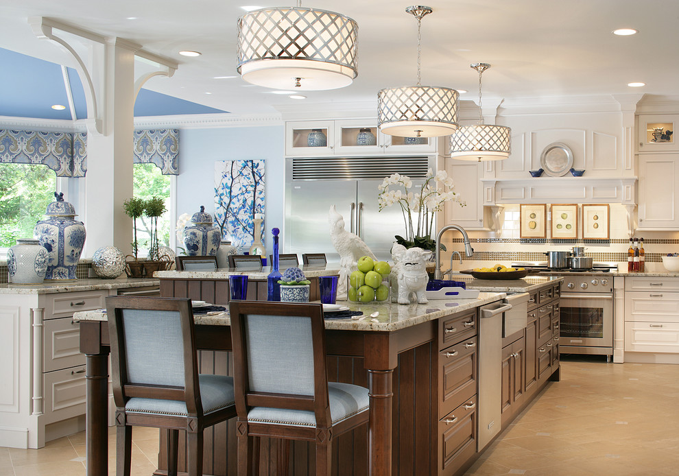 delightful Decorative Accents For Kitchen #5: Dazzling-Spj-Lighting-trend-New-York-Traditional-Kitchen-
