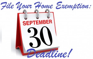 Deadline to submit your home exemption form is September 30th