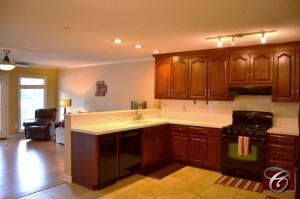 Open Kitchen and Den